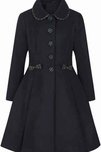 Hell Bunny Tiddlywinks Coat Mantel dunkelblau