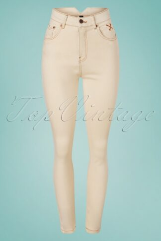 50s Betty Skinny Jeans in Nature White Denim