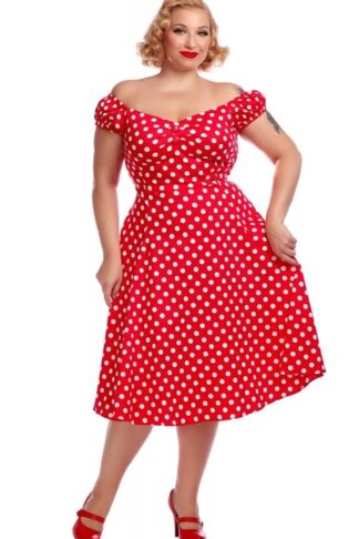 Collectif Dolores Swing Kleid Polkadot von Rockabilly Rules