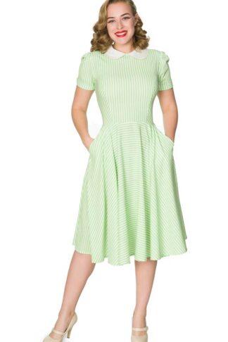 Sheen Clothing Swing Kleid Brielle, Streifen-Design von Rockabilly Rules