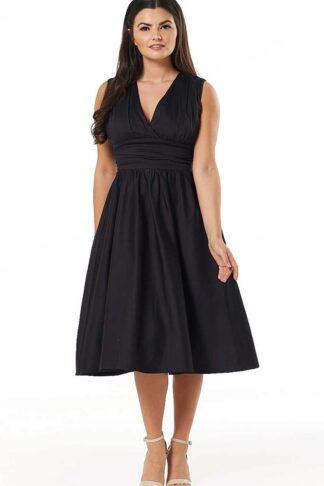 Timeless London Vintage Swing Kleid Candace, schwarz von Rockabilly Rules