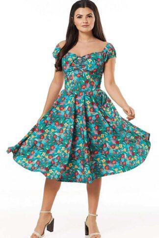 Timeless London Vintage Swing Kleid Tropical Preston von Rockabilly Rules