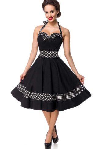 Belsira - Polkadot Neckholder Swing Kleid Bettie von Rockabilly Rules