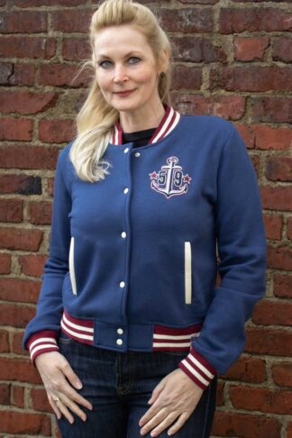 Rumble59 - Sweat College Jacke - Anchors aweigh! von Rockabilly Rules