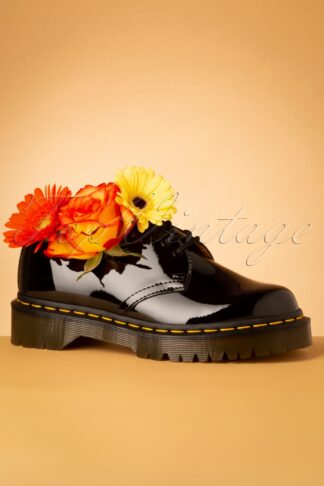 1461 Bex Patent Shoes in Black