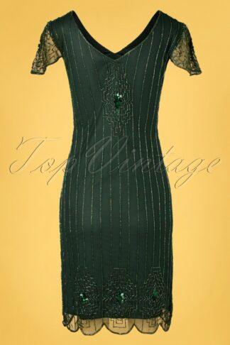 20s Downton Abbey Flapper Dress in Green