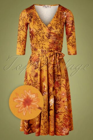 50s Carola Swing Dress in Amber