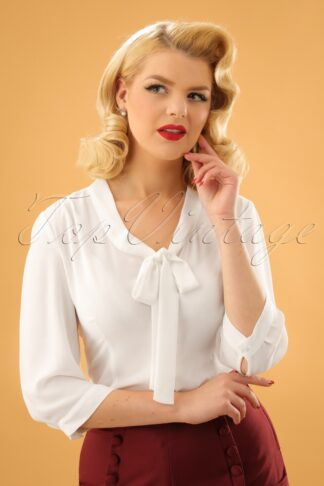 50s Fly Away Shirt in White