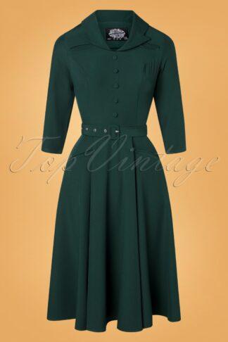 50s Gabriella Swing Dress in Green