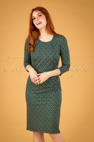 60s Mona Carlisle Dress in Peacoat Blue