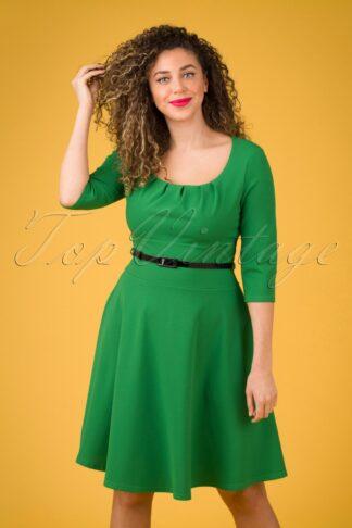 50s Felice Swing Dress in Emerald