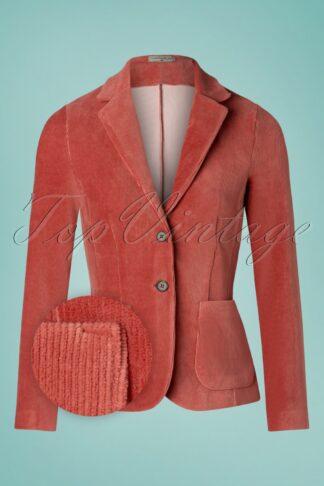 60er Complete Me Cord Blazer in Vintage Rosa