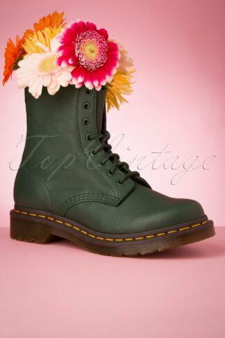 1460 Pascal Virginia Boots in Tannengrün