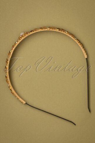 20er Ella Art Deco Haarband in Gold
