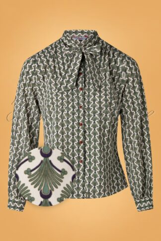 20s The Gatsby Blouse in Green