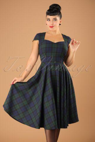 50s Aberdeen Swing Dress in Dublin Tartan
