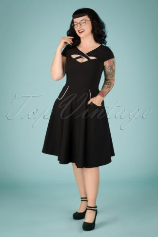 50s Connie Swing Dress in Black
