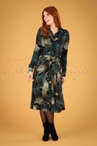 60s Olive Devon Dress in Black