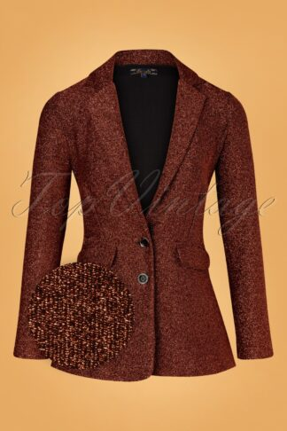 70s Daisy Long Ballroom Blazer in Bronze Brown