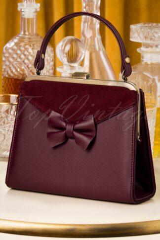 20er Inez Charleston Handbag in Beerenrot
