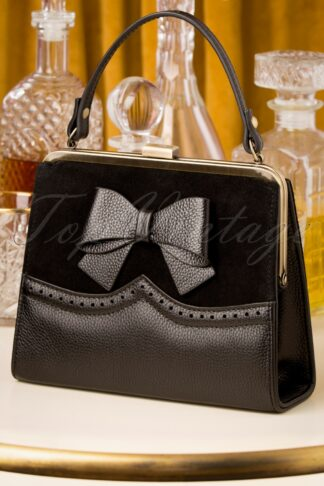 20er Inez Charleston Handbag in Schwarz