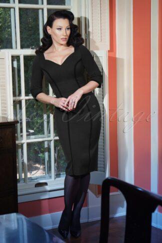 50s Aiden Pencil Dress in Iron Grey